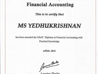 International Diploma in Financial Accounting GSAF