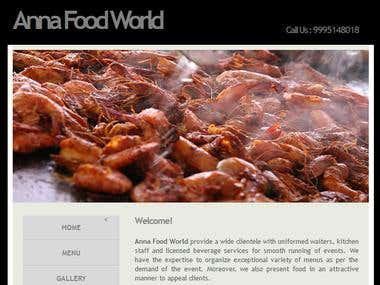 Anna Food World Website