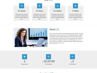 Laravel Investment Website