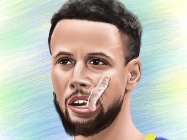Golden State Warriors Stephen Curry Digital Painting