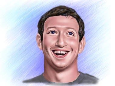Facebook CEO Mark Zuckerberg Digital Painting