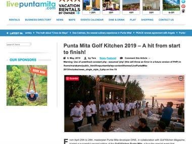 Punta Mita Golf Kitchen 2019 - A hit from start to finish!