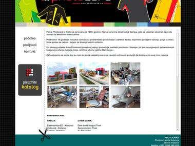 Print store promo site