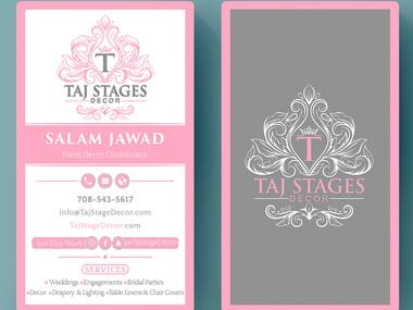 Design Verticle Business Card For Event Planner