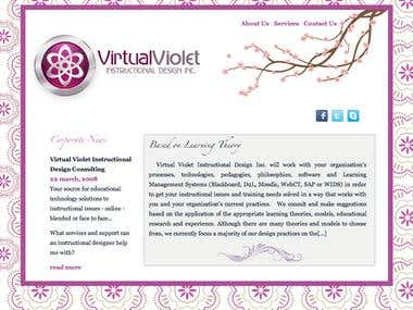 VirtualViolet.CA - WordPress Website Design