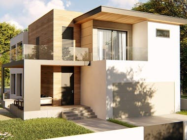 Modern Contemporary Corner Lot Design