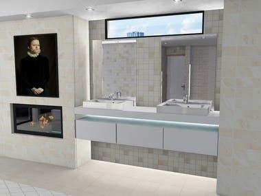 Master bath/shower area