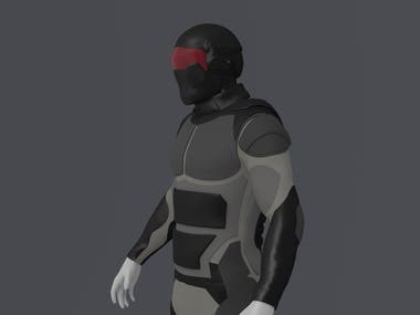 Soldier uniform concept (for game asset)