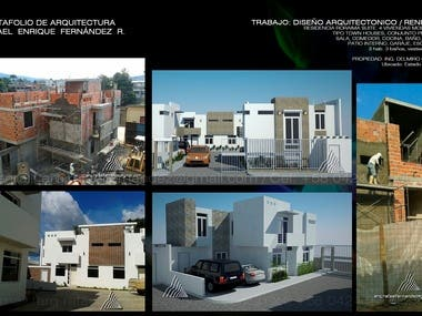 ARCHITECTURAL DESIGN OF TOWNHOUSES RESIDENCES.