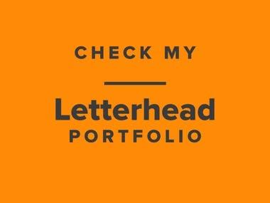 Letterhead Design Portfolio