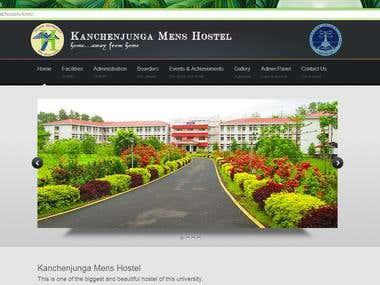 Official website of Kanchenjunga Men's Hostel, Tezpur Univer