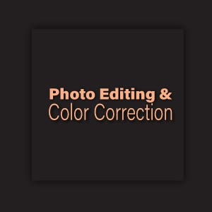 photo editing and color correction