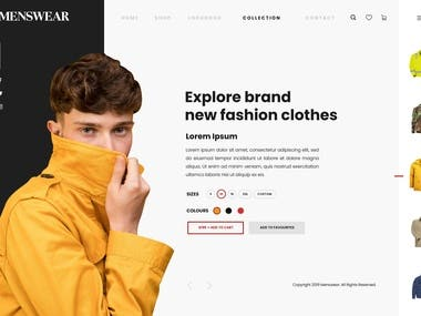 Fashion Menswear Sample Website