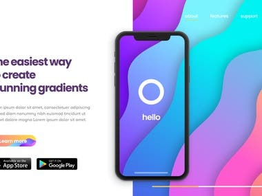 Mobile App Landing Page Sample Design