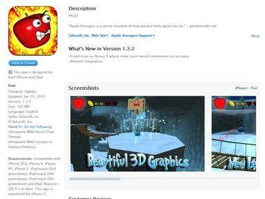 Apple Avengers 3D Game for Selosoft