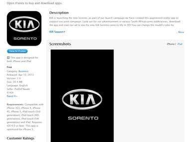 Application KIA Motors