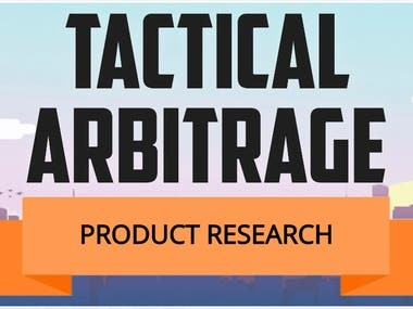 Amazon Tactical Arbitrage Product Research