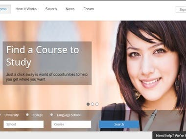 React.js (Enrol Website)