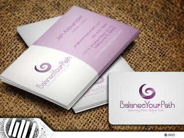 Balance Your Path Logoand Business Card