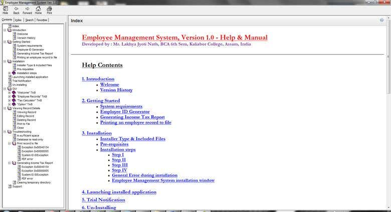 Employee Management System with Income Tax Calculator