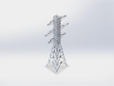 Electric tower transmission line design