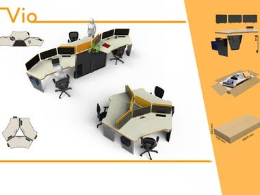 Modular Office Furniture Design