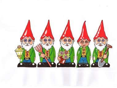 Gnome Alone - Book Illustration