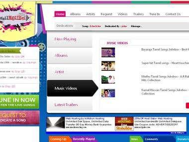 Movie & Song Download website