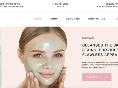Skincare Website (Wordpress)