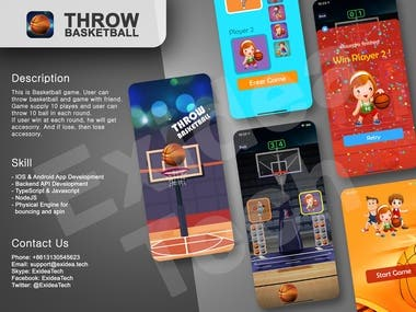 Throw Basketball : React Native/Appstore