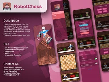 RobotChess : React Native/Mobile APP