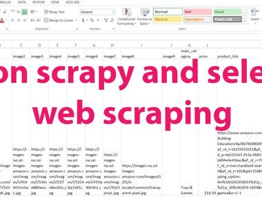 Web scraping (python selenium, scrapy) results