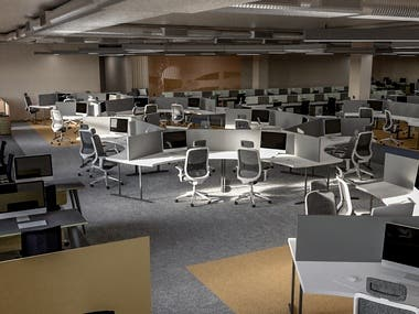 Office Interior 3D visualizations