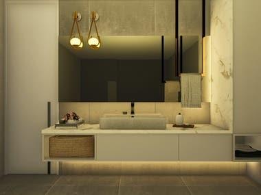 Bathroom Realistic 3D render