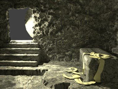 3D Modeling and Rendering of Jesus Tomb