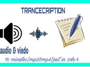 PROFESSIONAL TRANSCRIPTION AUDIO,VIDEO, CALLS,CONFERENCE,etc
