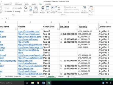 Manual Data Gathering