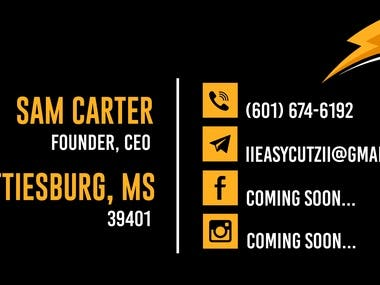 Easy Cutz Business Cards