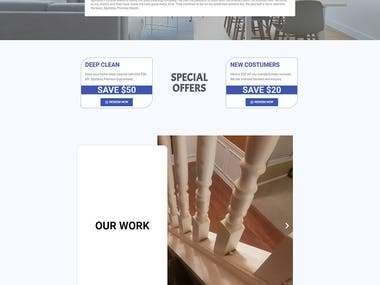 WordPress - Cleaning Company Website