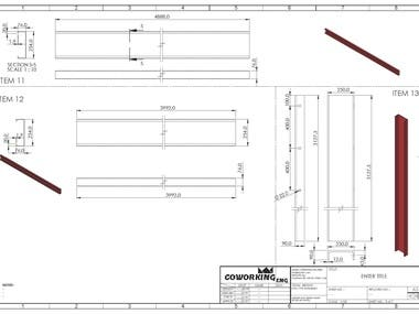 shop drawing of steel structure