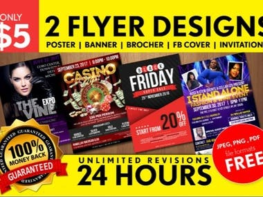 i will do creative flyer poster or brochure quickly.