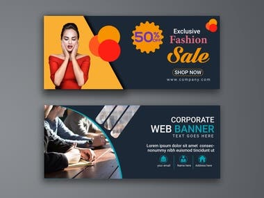 Web and Advertisement Banner