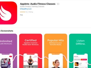 Applete: Audio Fitness Classes