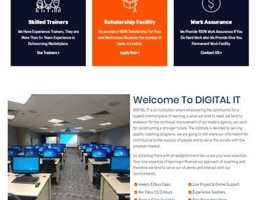 Training Institute Website Making