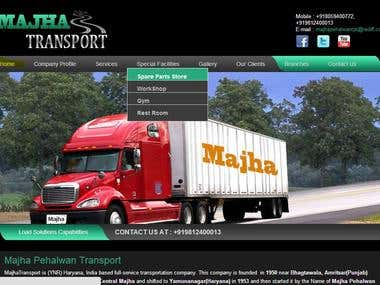 TRANSPORT COMPANY WEBSITE http://majhapehalwan.com/