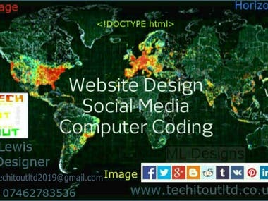 Social Media Banner/Company Card Image with Website address