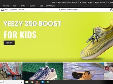 Foot World - Magento site