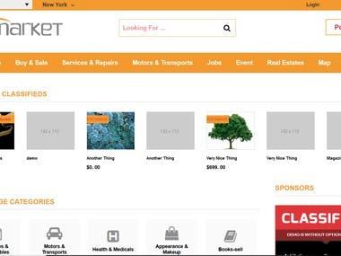 Zamarket - Wordpress classified site