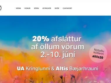 Altis- Wordpress site