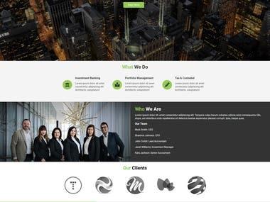 One of my Web Design